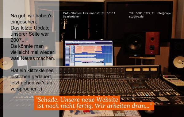 Vorschau von www.capstudios.de, CAP Studios Creative Audio Productions Markus Backes
