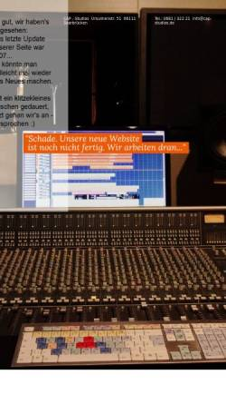 Vorschau der mobilen Webseite www.capstudios.de, CAP Studios Creative Audio Productions Markus Backes
