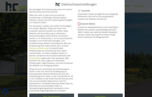 Vorschau von hoefer-chemie.de, Höfer Chemie GmbH