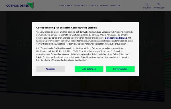 Vorschau von www.cosmosdirekt.de, Cosmos Direkt Versicherungen