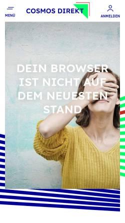 Vorschau der mobilen Webseite www.cosmosdirekt.de, Cosmos Direkt Versicherungen
