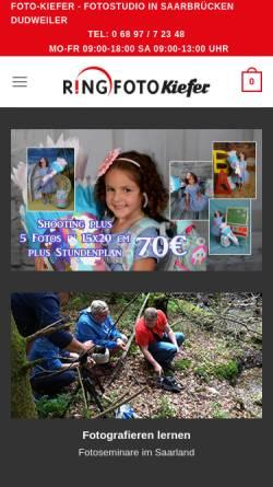 Vorschau der mobilen Webseite www.foto-kiefer.de, Foto-Kiefer Dudweiler