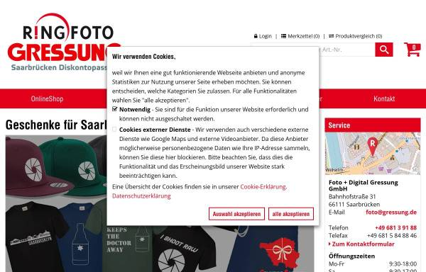 Vorschau von www.gressung.de, Trapp, Hannes Fotograf
