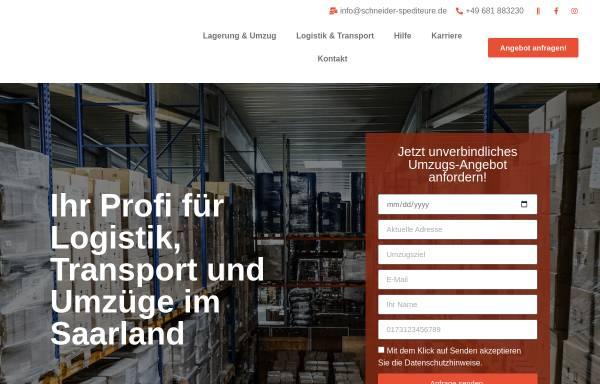 Vorschau von schneider-spediteure.de, Schneider und Schneider Spediteure GmbH Güdingen