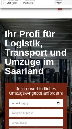 Vorschau der mobilen Webseite schneider-spediteure.de, Schneider und Schneider Spediteure GmbH Güdingen