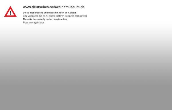 Vorschau von www.deutsches-schweinemuseum.de, Deutsches Schweinemuseum