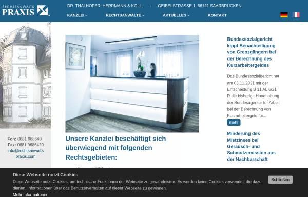 Vorschau von www.rechtsanwaltspraxis.com, Dr. Thalhofer, Herrmann und Kollegen