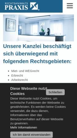 Vorschau der mobilen Webseite www.rechtsanwaltspraxis.com, Dr. Thalhofer, Herrmann und Kollegen