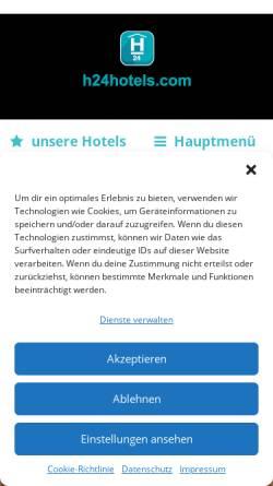 Vorschau der mobilen Webseite www.hoteltow.de, Hoteltow, Teltow
