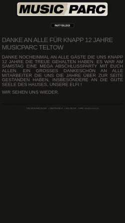 Vorschau der mobilen Webseite www.musicparc.de, Musicparc