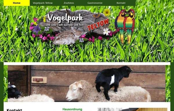 Vorschau von www.vogelpark-streichelzoo-teltow.de, Vogelpark und Streichelzoo