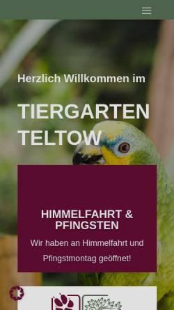 Vorschau der mobilen Webseite www.vogelpark-streichelzoo-teltow.de, Vogelpark und Streichelzoo