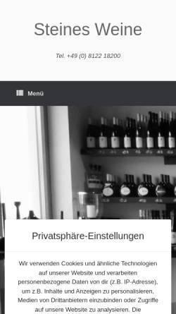 Vorschau der mobilen Webseite www.steines-weine.com, Steines KG