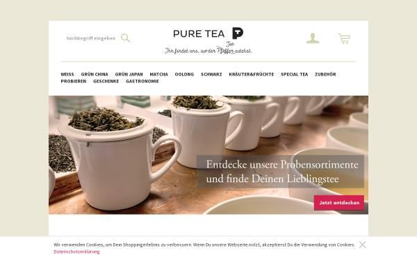 Vorschau von www.puretea.de, Pure Tea, Andreas Brehm