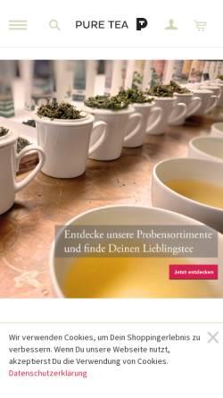 Vorschau der mobilen Webseite www.puretea.de, Pure Tea, Andreas Brehm