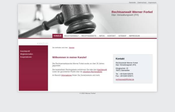 Vorschau von www.rechtsanwalt-forkel.de, Rechtsanwalt Werner Forkel