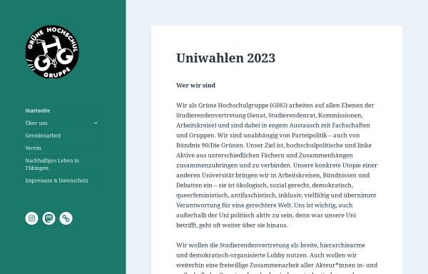 Vorschau von ghg-tuebingen.de, Grüne Hochschulgruppe Tübingen