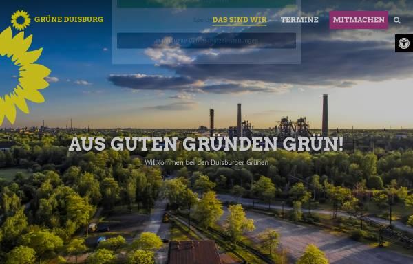Vorschau von gruene-duisburg.de, Bündnis 90/Die Grünen, Kreisverband Duisburg