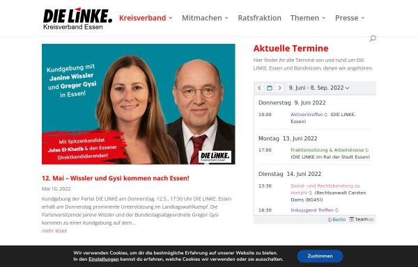 Vorschau von www.dielinke-essen.de, Die Linke. Kreisverband Essen