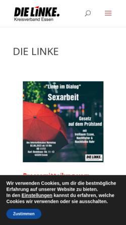 Vorschau der mobilen Webseite www.dielinke-essen.de, Die Linke. Kreisverband Essen