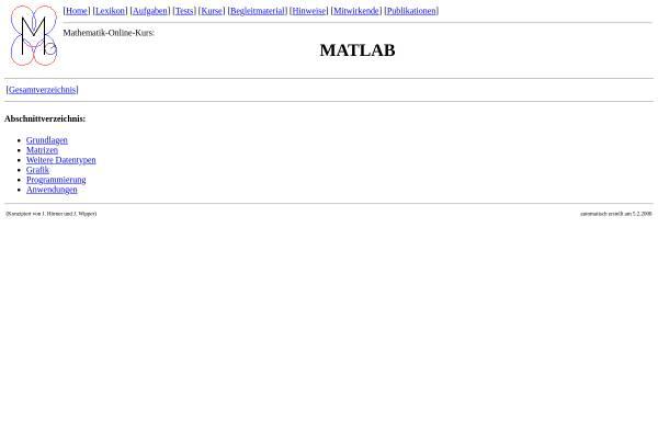 Vorschau von mo.mathematik.uni-stuttgart.de, Mathematik-Online-Kurs: MATLAB