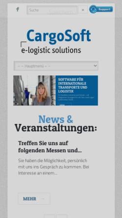 Vorschau der mobilen Webseite www.cargosoft.de, CargoSoft GmbH