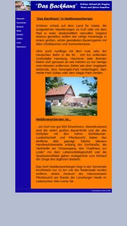 Vorschau der mobilen Webseite www.backhaus-nedden.de, Das Backhaus