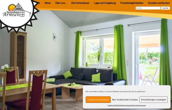 Vorschau von www.ferienhaus-armsen.de, Ferienhaus Familie Ramme