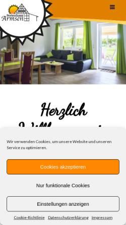 Vorschau der mobilen Webseite www.ferienhaus-armsen.de, Ferienhaus Familie Ramme