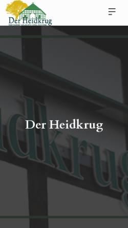Vorschau der mobilen Webseite www.der-heidkrug.de, Der Heidkrug