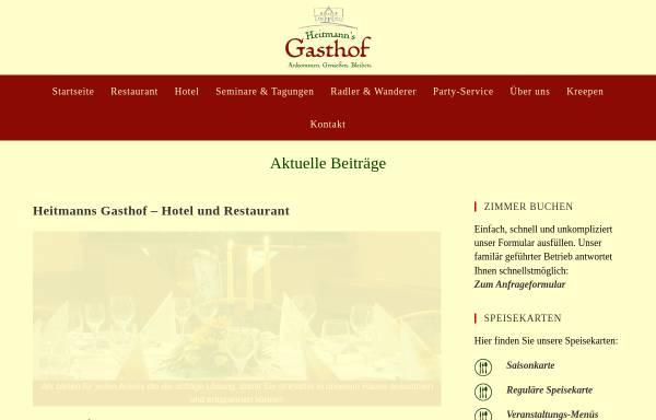 Vorschau von www.heitmannsgasthof.de, Heitmanns Gasthof
