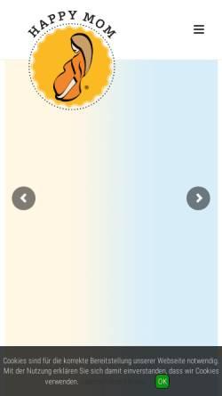 Vorschau der mobilen Webseite www.happy-mom.de, Happy Mom Marketing