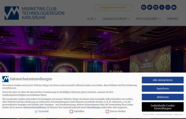 Vorschau von www.marketingclub-karlsruhe.de, Marketingclub Karlsruhe
