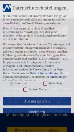 Vorschau der mobilen Webseite www.marketingclub-karlsruhe.de, Marketingclub Karlsruhe