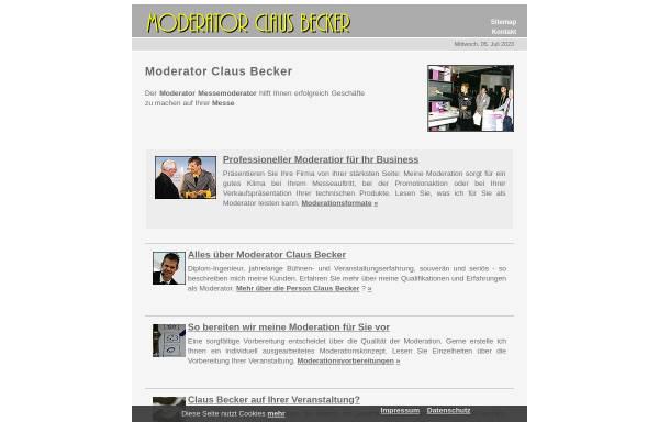 Vorschau von moderator-messe-moderation.de, Moderator Claus Becker