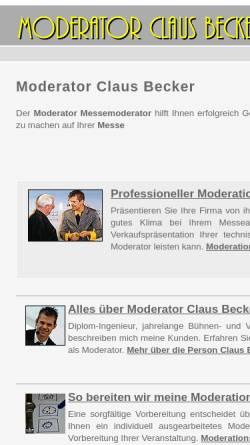 Vorschau der mobilen Webseite moderator-messe-moderation.de, Moderator Claus Becker