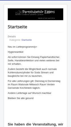 Vorschau der mobilen Webseite www.alles-fuer-die-feier.de, Rainer Eggers