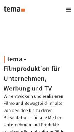 Vorschau der mobilen Webseite www.tema-medien.de, Tema