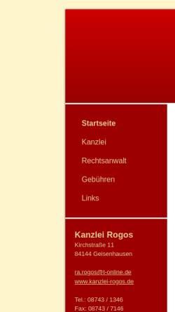Vorschau der mobilen Webseite www.kanzlei-birnkammer.de, Birnkammer & Rogos