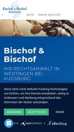 Vorschau der mobilen Webseite rae-bischof.de, Bischof & Bischof