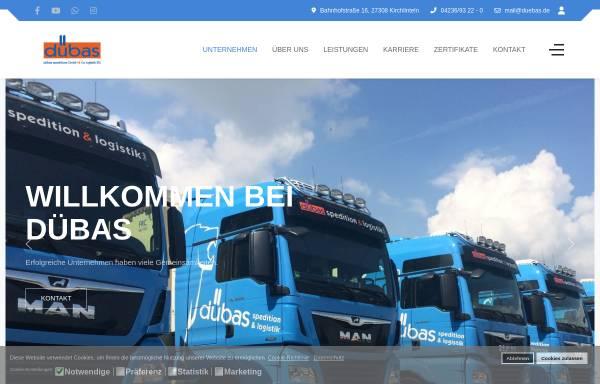 Vorschau von www.duebas.de, dübas speditions GmbH & Co logistik KG