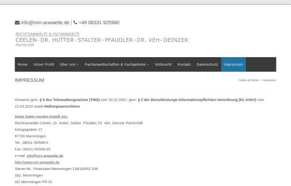 Vorschau von www.mm-anwaelte.de, Rechtsanwälte Ceelen, Dr. Hutter, Stalter, Pfaudler, Dr. Veh PartGmbB