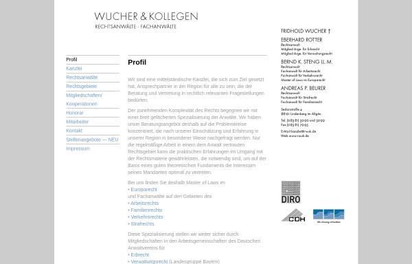 Vorschau von www.rwuk.de, Wucher & Kollegen
