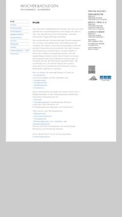 Vorschau der mobilen Webseite www.rwuk.de, Wucher & Kollegen