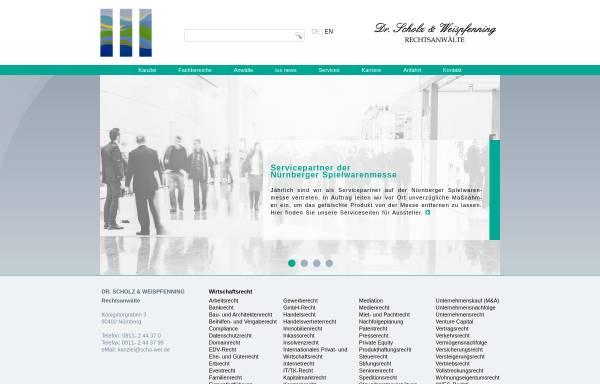 Vorschau von www.schowei.de, Dr. Scholz & Weispfenning