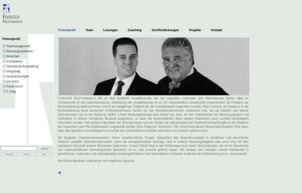 Vorschau von www.fr-lawfirm.de, Foerster und Rutow Rechtsanwälte