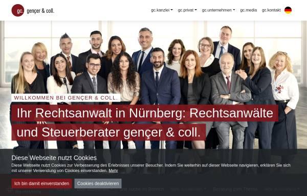 Vorschau von gencer-coll.de, gençer & coll. Rechtsanwälte und Steuerberater