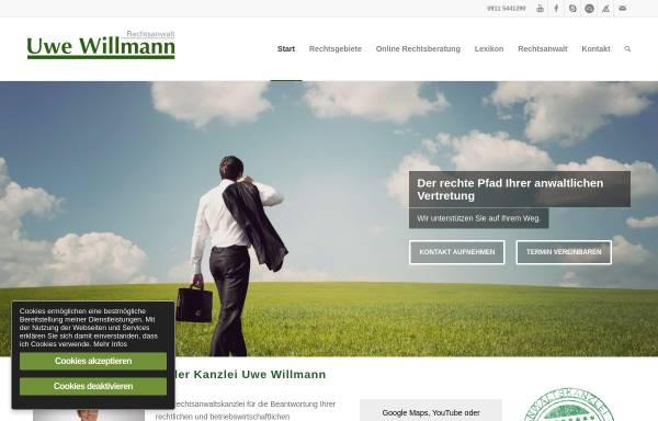 Vorschau von www.uwe-willmann.de, Kanzlei Uwe Willmann