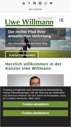 Vorschau der mobilen Webseite www.uwe-willmann.de, Kanzlei Uwe Willmann