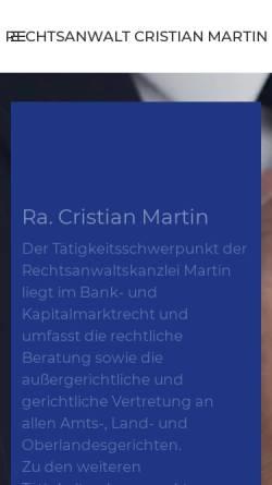 Vorschau der mobilen Webseite www.rechtsanwalt-nbg.de, Martin, Cristian